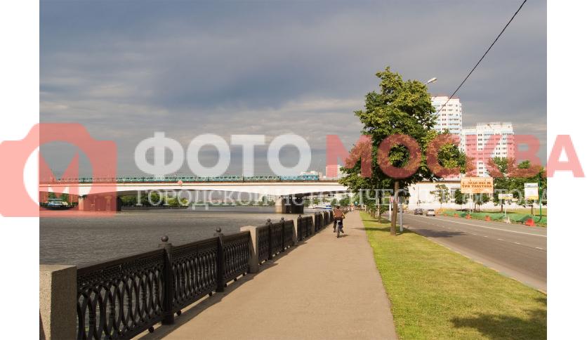 Нагатинская набережная и Нагатинский мост (проспект Андропова)
