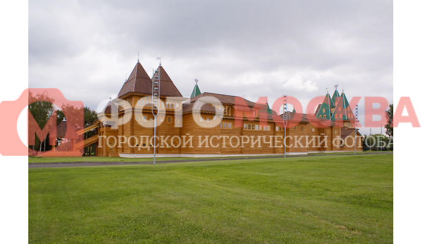 Вид на Деревянный дворец со стороны проспекта Андропова