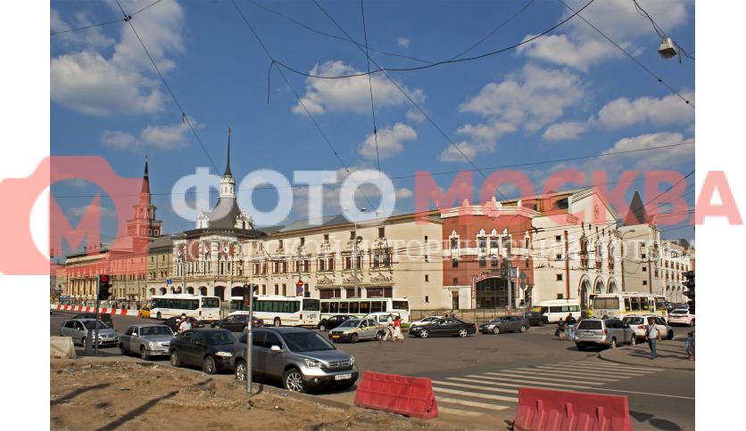 Казанский вокзал, вид со стороны Рязанского проезда