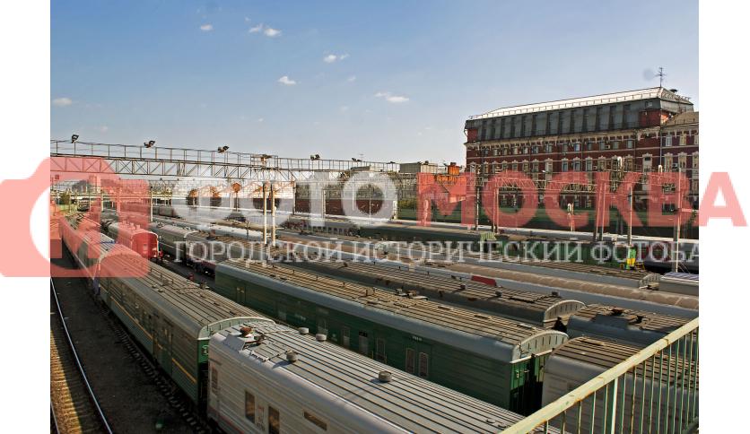 Пути поездов, прибывающих на Казанский вокзал
