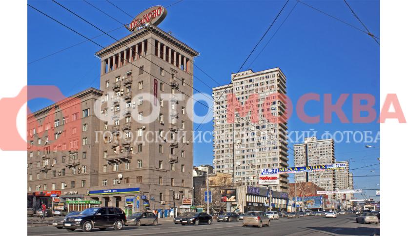 Угол Новинского Бульвара и Нового Арбата