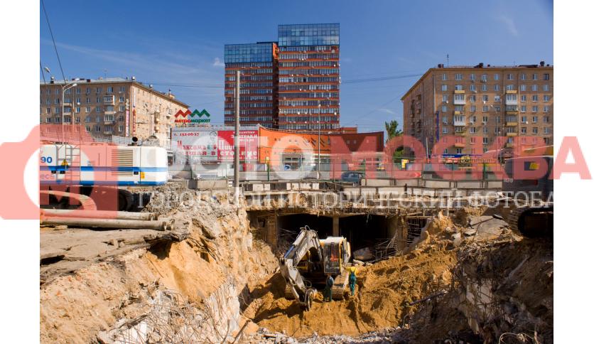 Реконструкция подземного перехода у метро Сокол