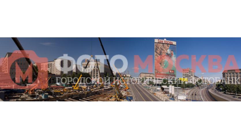 Развилка Ленинградского проспекта на Волоколамское шоссе и Ленинградское шоссе