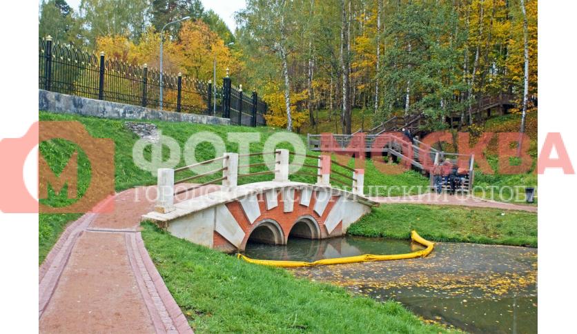 Новый мост над устьем Бирюлевского ручья