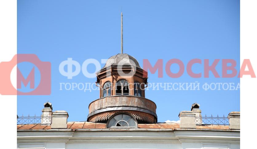 Фрагмент здания до пожара. Главное здание усадьбы Нарышкина