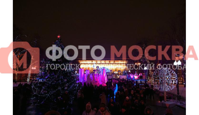 Новогодний Пушкинский сквер