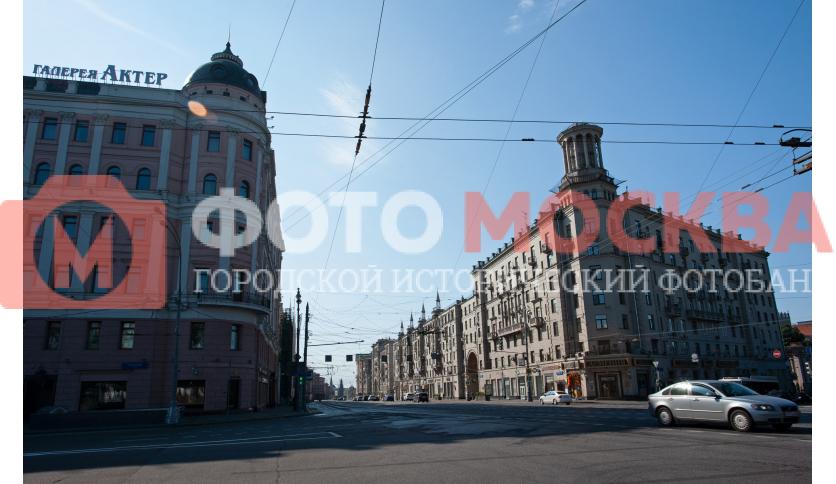 Пересечение Тверской и двух бульваров