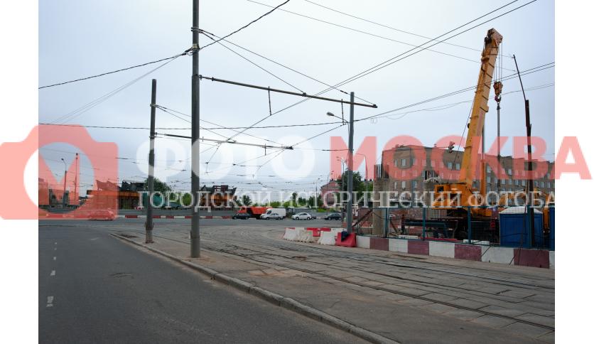 Строящийся мост проспекта Будённого
