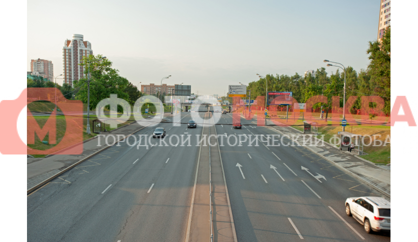 Перетекание Рублёвского шоссе в Аминьевское