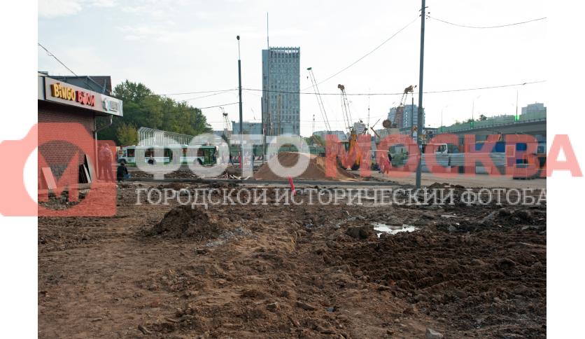 Стройка автостанции «Станция метро Щёлковская»