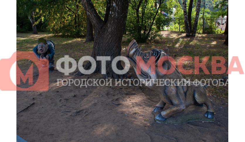 Кабан и охотник в Кузьминках