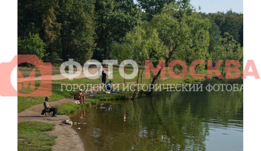 Рыбаки у Шибаевского пруда