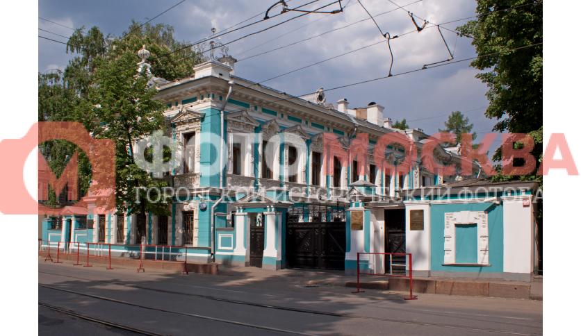 Главный дом городской усадьбы К.П. Бахрушина