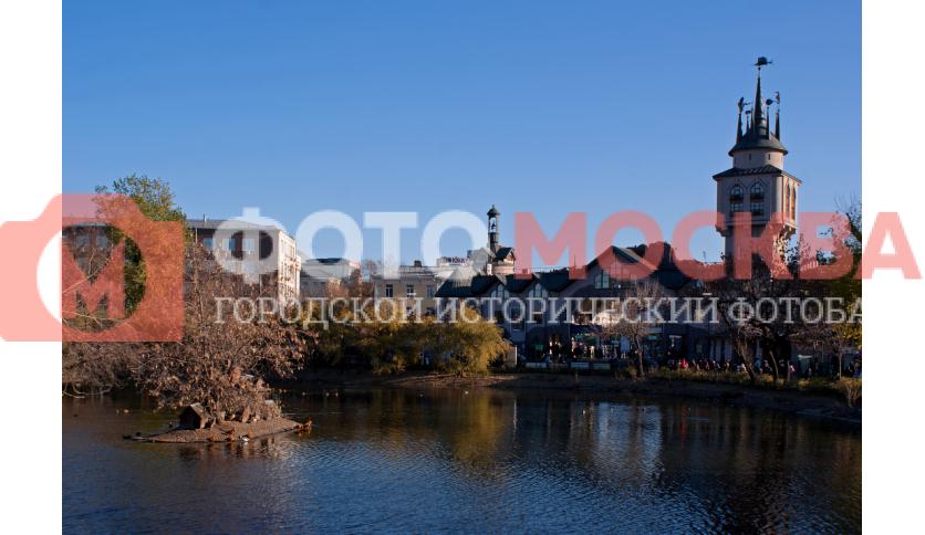 Пресненский пруд и вход в Московский зоопарк