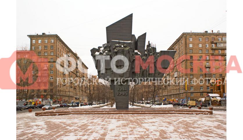 Памятник ополченцам Пролетарского района, погибшим во время ВОВ.