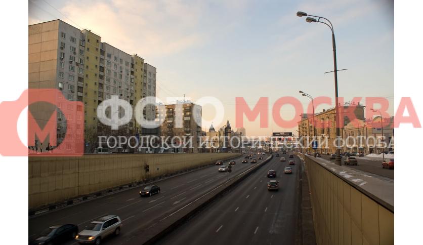 Выезд из Лефортовского тоннеля ТТК в районе Спартаковской площади