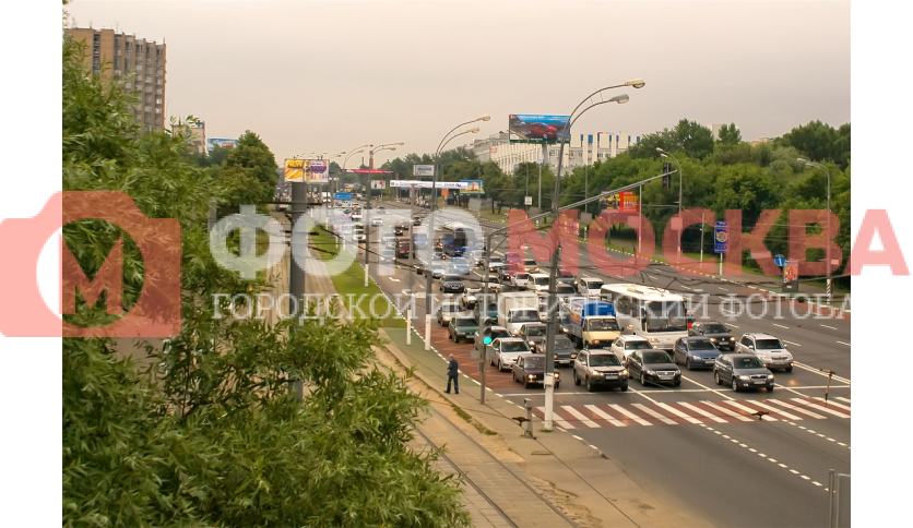 Варшавское шоссе в районе Нагатинской