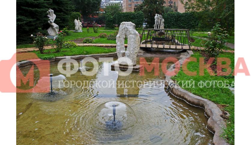 Композиция с фонтаном